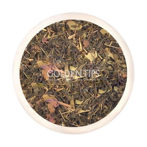 Roseherb Green Tea - Royal Brocade Cloth Bag - Golden Tips