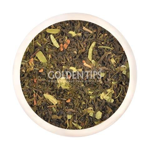 Kashmiri Kahwa Green Tea - Tin Can - Golden Tips