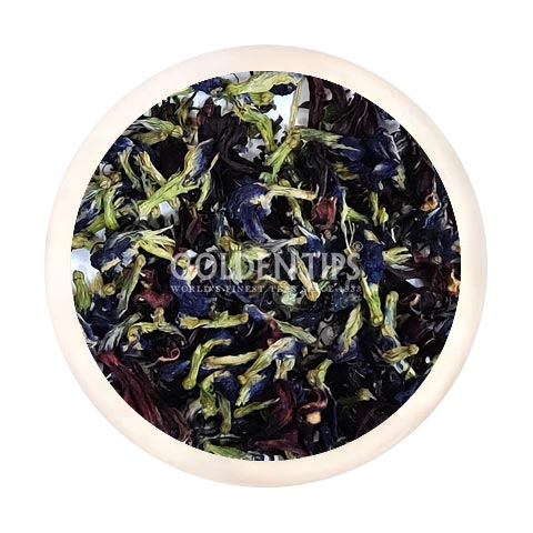 PURPLE TEA - Pea Butterfly - Hibiscus , Amethyst Ardor Green Tea - Golden Tips