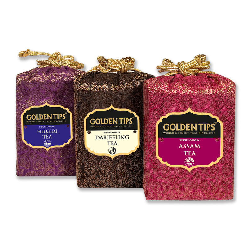 Finest Indian Teas Trio - Darjeeling, Nilgiri & Assam (3x50gm) - Golden Tips