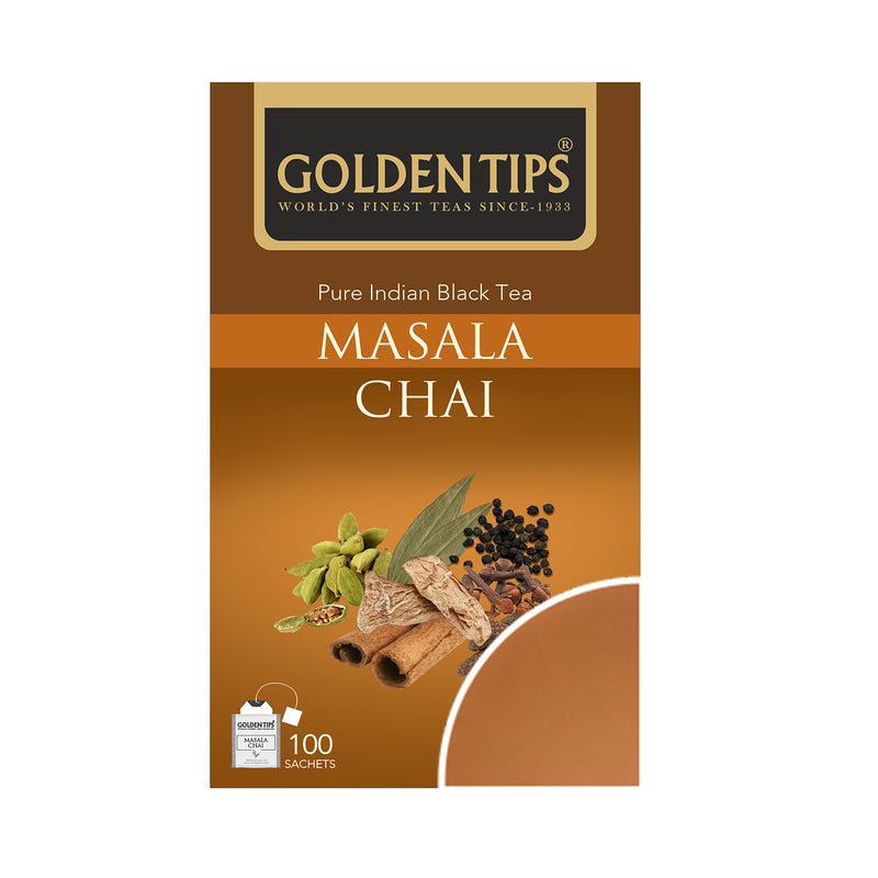 Masala Chai Envelope - Tea Bags - Golden Tips