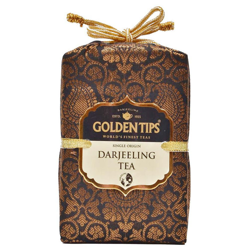 Pure Darjeeling Tea - Royal Brocade Cloth Bag - Golden Tips