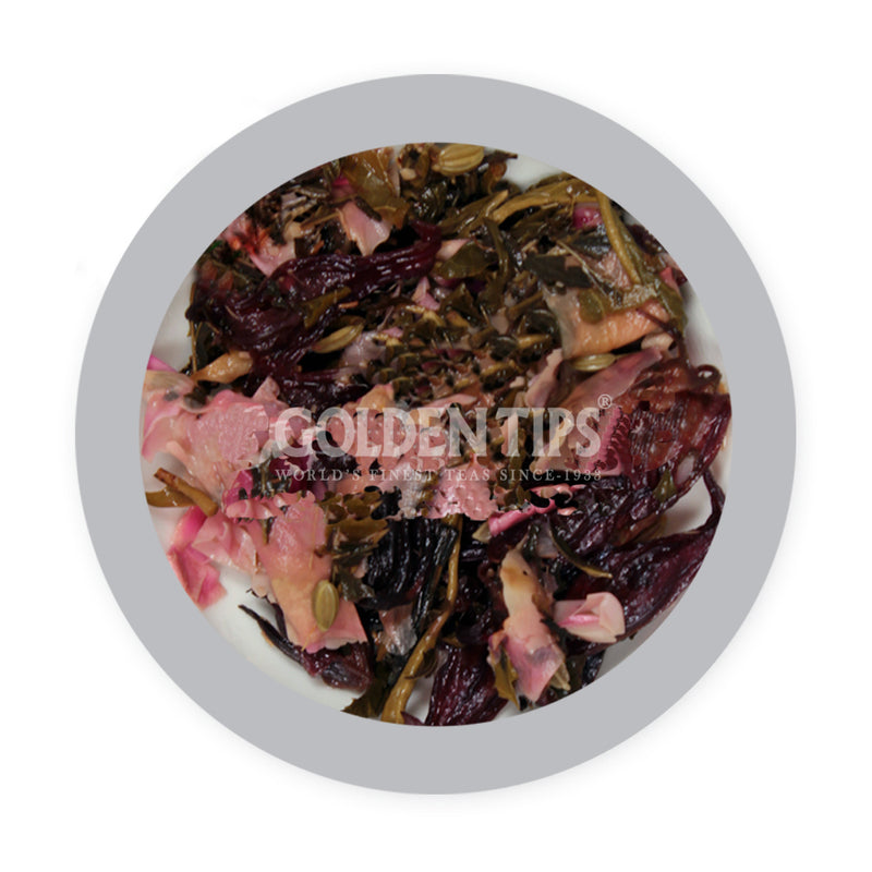 Divine Potpourri - Licorice, Peppermint, Rose, Fennel, Hibiscus & Green Tea - Golden Tips