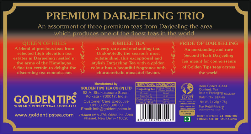 3-in-1 Queen of Hills, Jubilee and Pride of Darjeeling - Velvet Bag, 3x25g - Golden Tips
