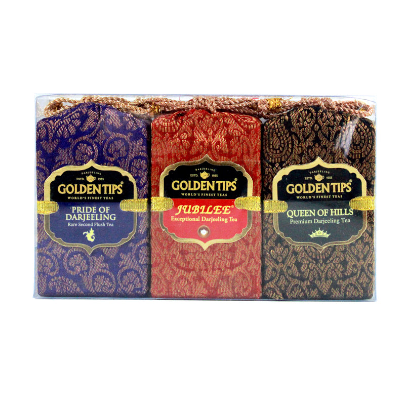 3-in-1 Queen of Hills, Jubilee and Pride of Darjeeling - Velvet Bag, 3x25g