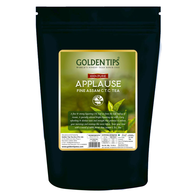 Applause Fine Assam CTC Black Tea - Golden Tips