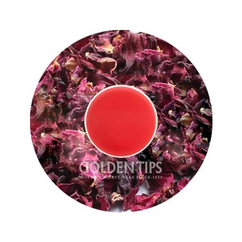 Hibiscus Rose Black Tea (40 Cups), 3.53oz/100gm - Golden Tips