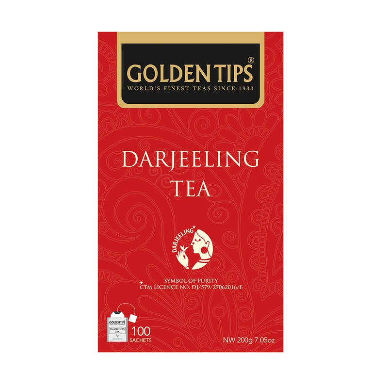 Golden Tips Pure Darjeeling 100 Individual Tea Bags, 200gm