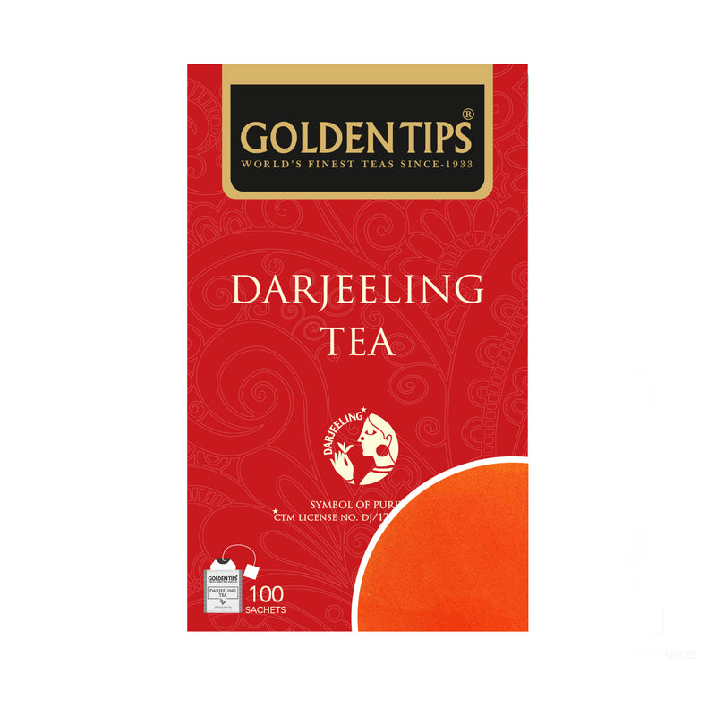 Golden Tips Pure Darjeeling 100 Individual Tea Bags, 200gm - Golden Tips