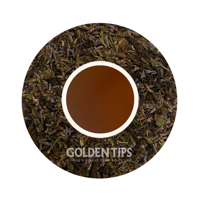Herbyoga -Lavender Mint Green Tea (100 gm) - Golden Tips