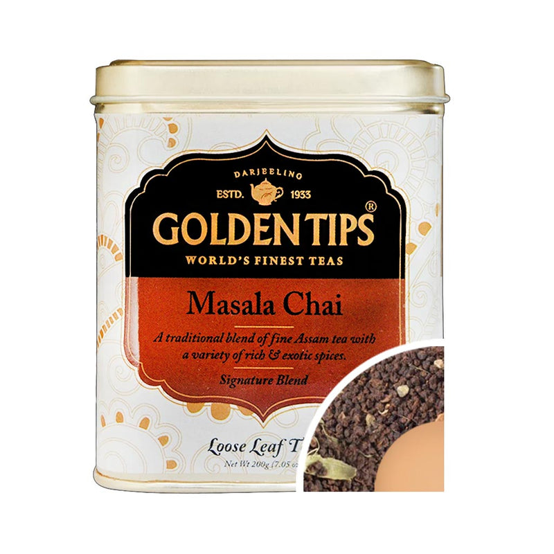 Masala Chai Tin Can - Golden Tips