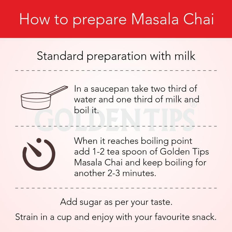 Masala Chai - India's Authentic Spiced Tea - Golden Tips