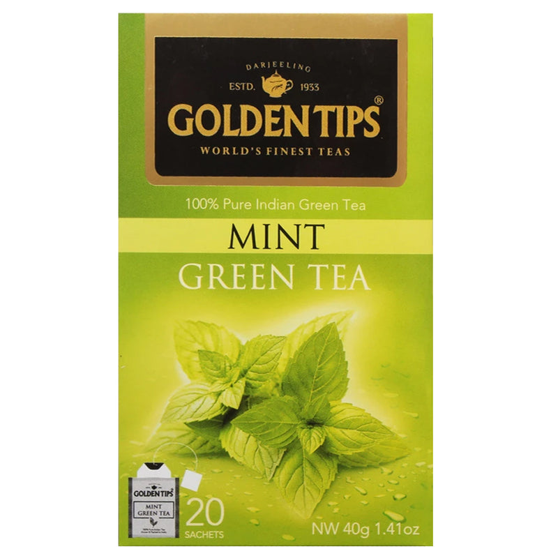 Mint Green Envelope Tea - 20 Tea Bags (40gm) - Pack of 4