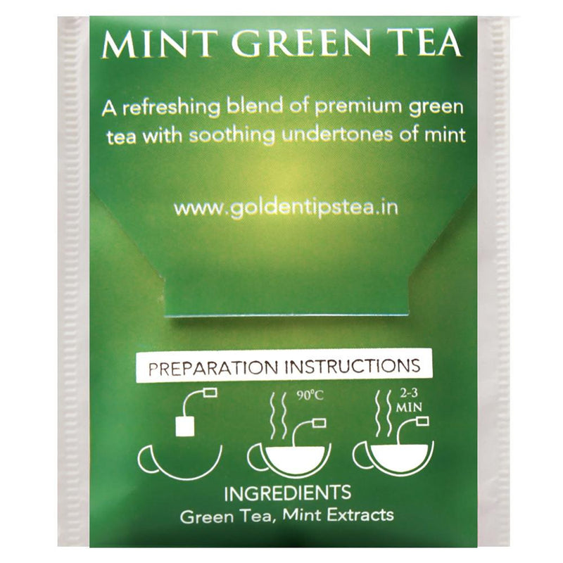 Mint Green Envelope - Tea Bags - Golden Tips