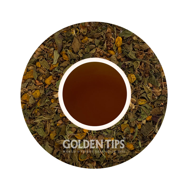 Herbyoga -Tulsi, Turmeric & Ginger Herbal Tea (100 gm) - Golden Tips