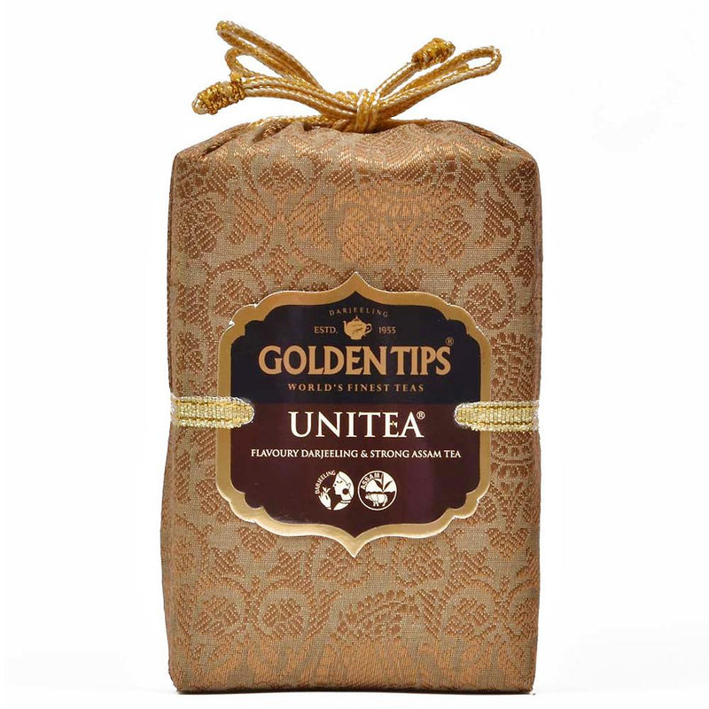 Unitea - Royal Brocade Cloth Bag - Golden Tips