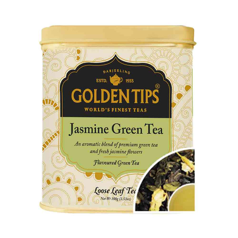 Jasmine Green Tea Tin Can - Golden Tips