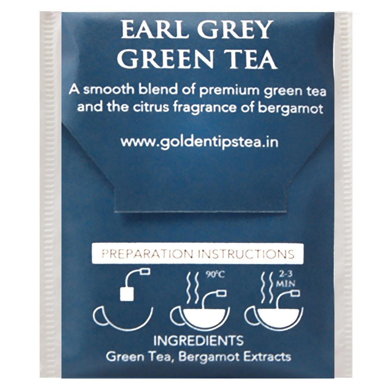 Earl Grey Green Envelope Tea - 20 Tea Bags (40gm) - Pack of 4