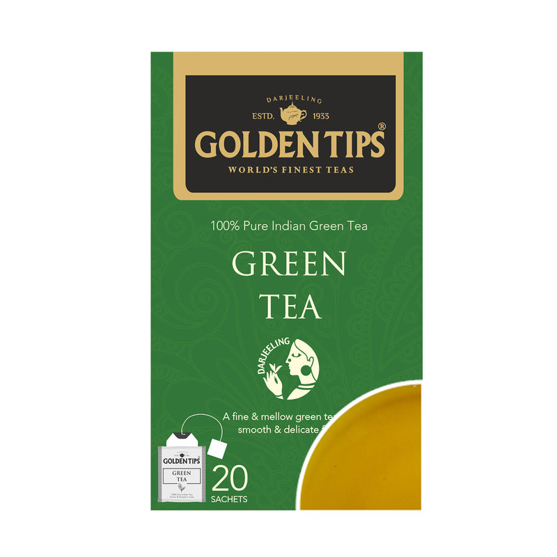 Pure Green Envelope Tea - 20 Tea Bags (40gm) - Golden Tips