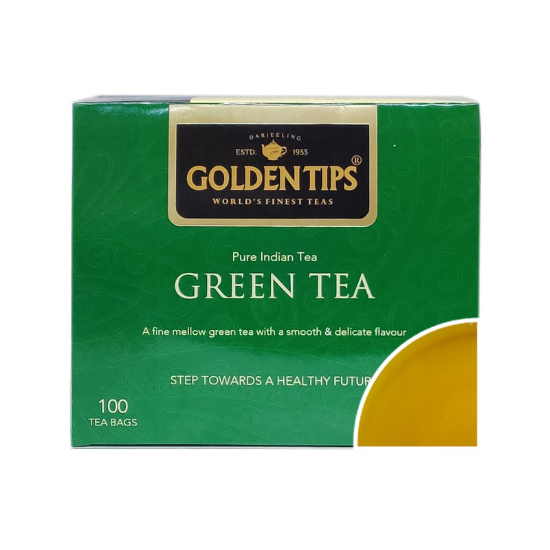 Pure Indian Green Tea - Filter Paper Tea Bags - Golden Tips
