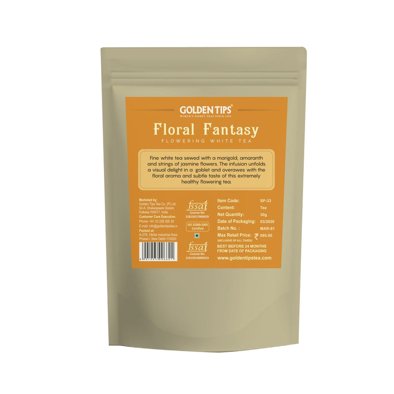 Floral Fantasy Flowering White Tea - 4 Balls - Golden Tips