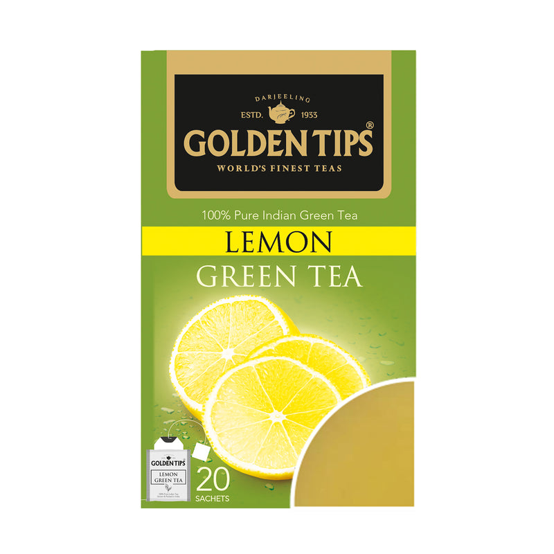 Lemon Green Envelope Tea -  Tea Bags - Golden Tips