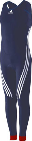 Blue adidas Sailing Foil with Exuskin 3D Pattern and white lining on legs and white adidas logo on the chest