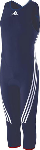 Blue adidas harness for sailing, surfing, rufting with white adidas logo and lining on the legs