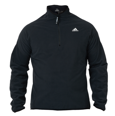Black adidas microfleece with white adidas logo for Sailing, Standup paddling (SUP), kayaking