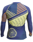 Back of the Citron Burst Trashee Rashguard made from Recycled Ocean Waste