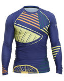 Front view of Citron Burst Trashee Rashguard made from Recycled Ocean Waste