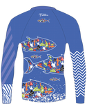 Back of the Youth Plastique Trashee Rashguard made from Recycled Ocean Waste