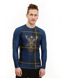 Fit Man wearing Highland Fling Trashee Rashguard made from Recycled Ocean Waste
