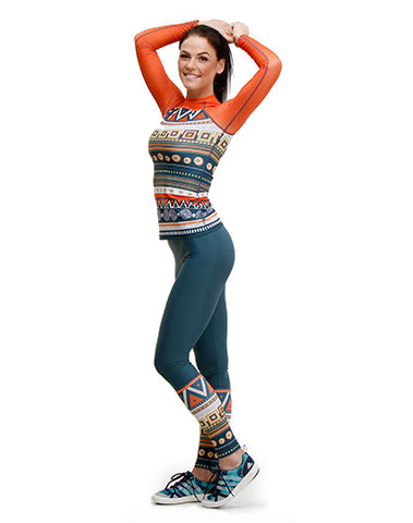 Women's Aztec Trashee Leggings