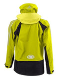 Back side of Yellow Adidas Sailing Atlantic Short Jacket with black and red Stripes