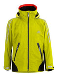Yellow Adidas Sailing Atlantic Short Jacket with black and red Stripes and adidas logo on the right side of the chest