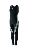 Black adidas Sailing Foil with Exuskin 3D Pattern and white lining on legs and white adidas logo on the chest