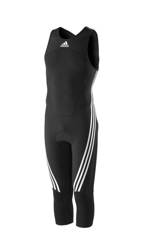 Black adidas harness for sailing, surfing, rufting with white adidas logo and white lining on the legs