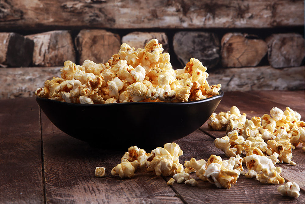 Popcorn made with hickory smoked Broighter Gold Rapeseed Oil