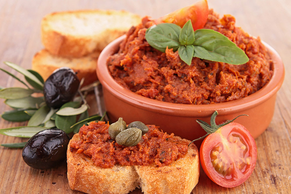 Oven Roasted Tomato Tapenade