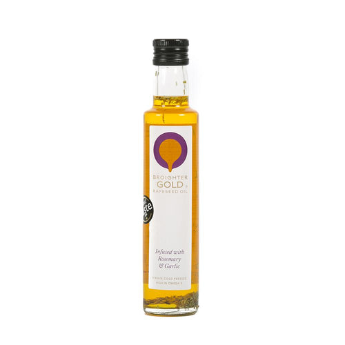 Garlic & Rosemary Infused Rapeseed Oil Rapeseed Oil Broighter Gold Rapeseed Oil