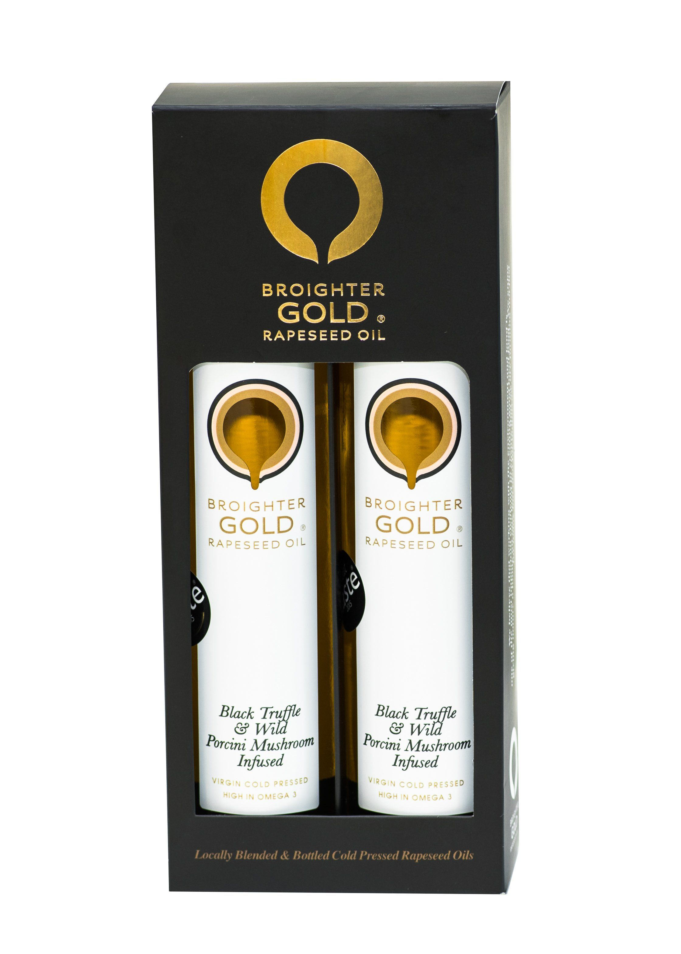 Gourmet Double Black Gift Box Rapeseed Oil Broighter Gold Rapeseed Oil