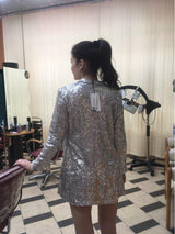 Silver  Longer Sleeved Jackets