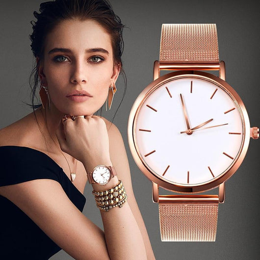 Romantic Rose Gold Watch - Watches And Outdoor Gear