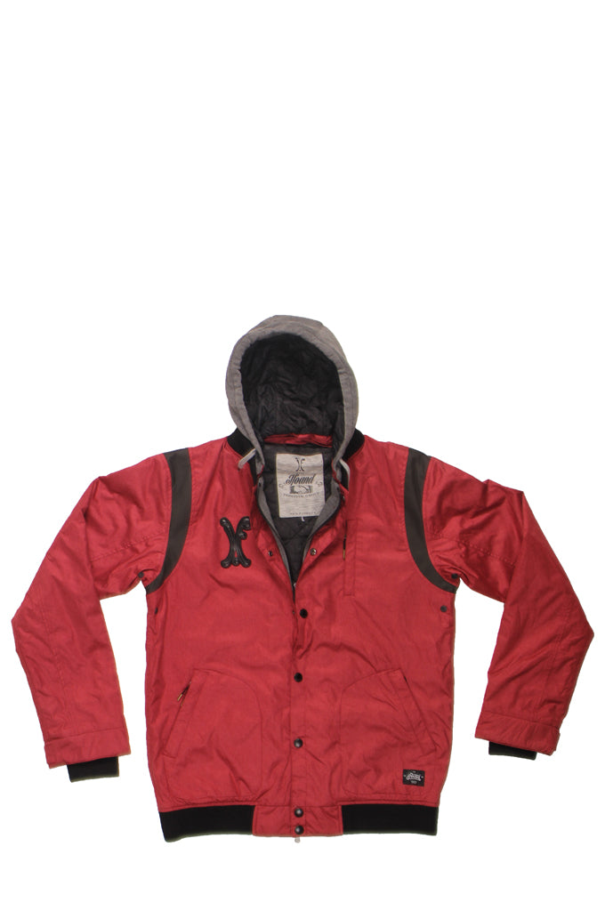 STADIUM JACKET - BRICK RED   IF00002, Positive Group,