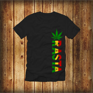 POT LEAF RASTA WEED-RASTA MEN SHORT SLEEVE T-SHIRT