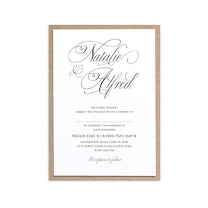 Elegant Script Wedding Invitations, Calligraphy Invitations, Classical Wedding Invites, Sophisticated Wedding, Elegant Wedding, Simple Wedding, 10 Pack