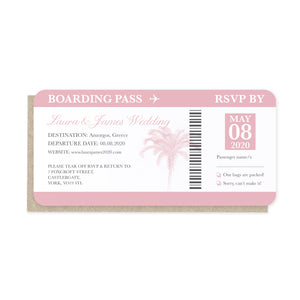 Passport Wedding Invitations, Boarding Pass RSVP Card, Wedding Abroad, Destination Wedding, Travel Wedding, Plane Ticket Invite, 10 Pack