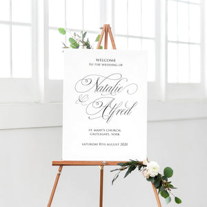 Elegant Script Welcome Sign, Calligraphy Invitations, Classical Wedding, Sophisticated Wedding, Elegant Wedding, Simple Wedding