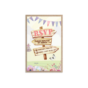 Boho Festival Ticket RSVP Cards, Festival Wedding, Festival Invitation, Camping Wedding, Wedding Tent, Festival Ticket, Wedfest, 10 Pack